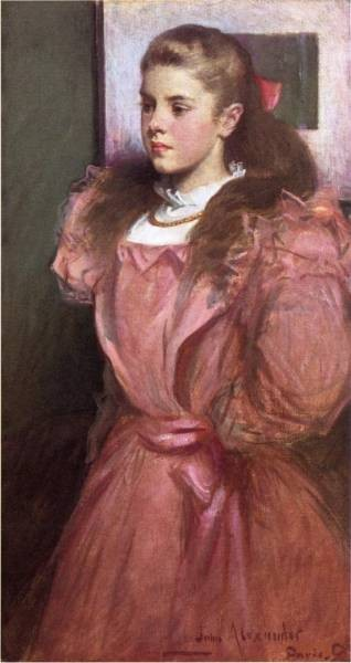 Young Girl in Rose aka Portrait of Eleanora Randolph Sears